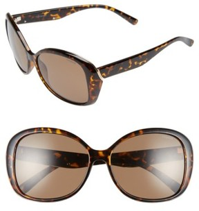 Polaroid Women's 59Mm Polarized Sunglasses - Havana/ Brown Polarized