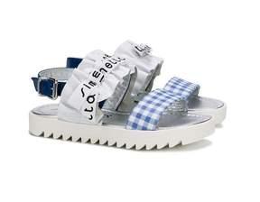 Simonetta check print sandals