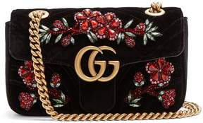 Gucci GG Marmont mini quilted-velvet cross-body bag - BLACK MULTI - STYLE
