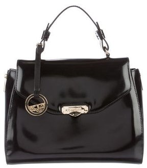 Versace Collection Glazed Leather Satchel
