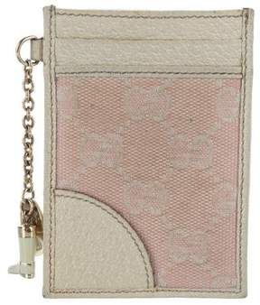 Gucci GG Canvas Card Holder - PINK - STYLE