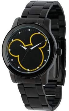 Disney Mickey Mouse Men's Casual Alloy Case Watch, Black Bracelet