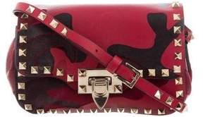 Valentino Nappa Canvas Mini Camouflage Rockstud Crossbody Bag