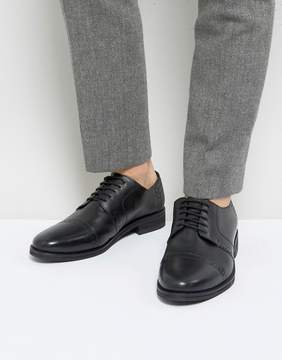 Frank Wright Brogues In Black Leather