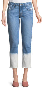 Derek Lam 10 Crosby Mila Mid-Rise Straight-Leg Ankle Jeans with Bleached Hem