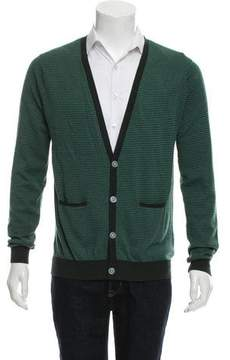 Band Of Outsiders Striped Wool Cardigan