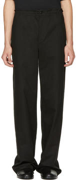 Ann Demeulemeester Black Flat Pocket Trousers