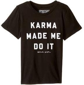 Spiritual Gangster Kids Karma Made Me Tee Girl's T Shirt