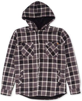 Rip Curl Men's Pacheco Plaid Fleece-Lined Flannel Hoodie