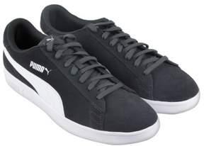 Puma Smash V2 Asphalt White Mens Lace Up Sneakers