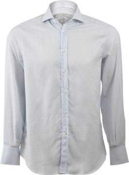 Brunello Cucinelli Window Pane Spread Collar Shirt