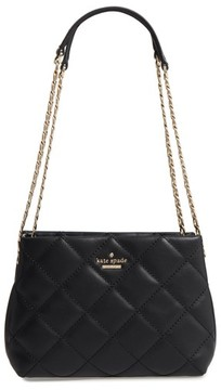 Kate Spade Emerson Place - Jenia Quilted Leather Shoulder Bag - Black - BEIGE - STYLE