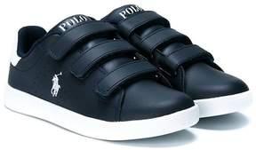 Ralph Lauren touch-strap logo sneakers