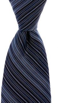 Murano Coat Stripe Narrow Silk Tie
