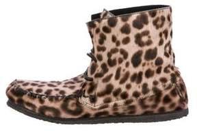 Etoile Isabel Marant Leopard Ponyhair Boots