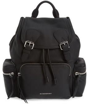 Burberry Medium Rucksack Leather Backpack - Black - BLACK - STYLE