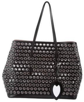 Alaia Embellished Leather Tote