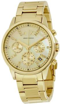 Armani Exchange Smart Chronograph Gold Dial Ladies Watch