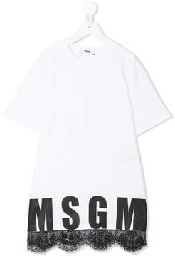 MSGM lace-trimmed T-shirt dress