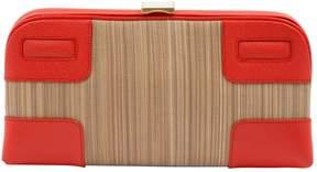 Smythson Beige Cloth Clutch Bag