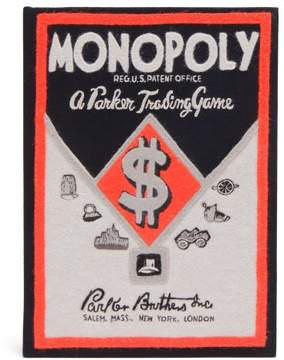 Olympia Le-Tan Olympia Le Tan Monopoly Parker Trading Game Box Clutch - Womens - Black Red