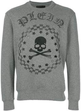 Philipp Plein skull, star and checkered detail sweatshirt