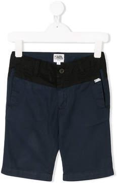 Karl Lagerfeld color block shorts