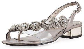 Adrianna Papell Daisy Embellished Flat Sandal