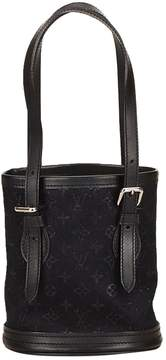 Louis Vuitton Bucket cloth handbag - BLACK - STYLE