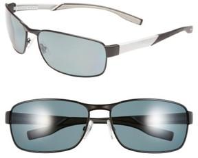 BOSS Men's 65Mm Polarized Sunglasses - Matte Black