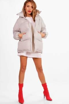 boohoo Katie Hooded Padded Coat