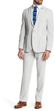 Nick Graham Stretch Modern Fit Two Piece Pinstripe Suit