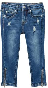 7 For All Mankind The Ankle Skinny Zip Ultra Flex Jeans (Little Girls)