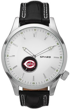 Icon Eyewear Sparo Watch - Men's Cincinnati Reds Leather