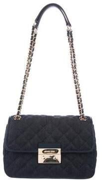 MICHAEL Michael Kors Large Sloan Denim Chain-Link Shoulder Bag