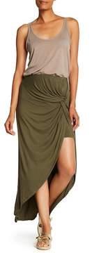 Bobeau Front Twist Maxi Skirt