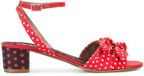 Tabitha Simmons polka dot strappy sandals
