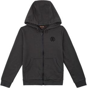 Roberto Cavalli Logo Crest Zip-Up Hoodie