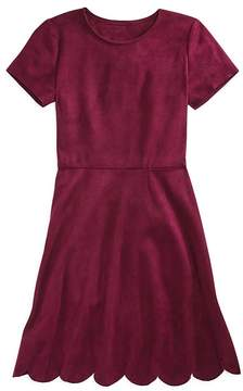 Aqua Girls' Faux-Suede Scalloped Dress, Big Kid - 100% Exclusive