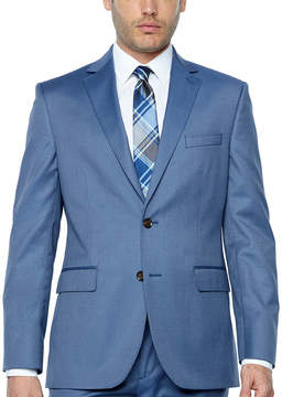 Jf J.Ferrar Light Blue Twill Classic Fit Stretch Suit Jacket