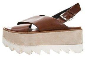 Premiata Leather Flatform Sandals