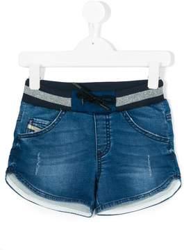 Diesel drawstring denim shorts