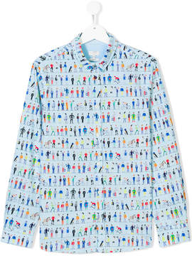 Paul Smith Teen people print shirt