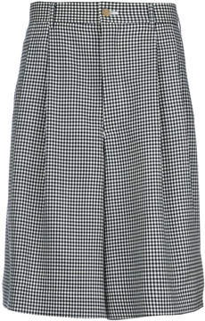 Comme des Garcons gingham tailored shorts