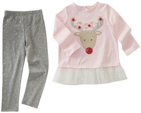 Mud Pie Reindeer Tunic Leggings Set Girl's Active Sets