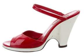 Marc Jacobs Patent Leather Slide Sandals