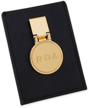 Asstd National Brand Gold Personalized Hinged Money Clip w/ Leather Pouch Wallet