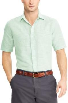 Chaps Men's Classic-Fit Linen-Blend Button-Down Shirt