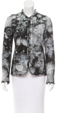 Mulberry Quilted Floral Print Jacket