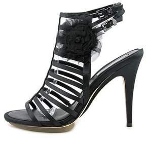 BCBGMAXAZRIA Womens Naomi Fabric Open Toe Special Occasion Strappy Sandals.